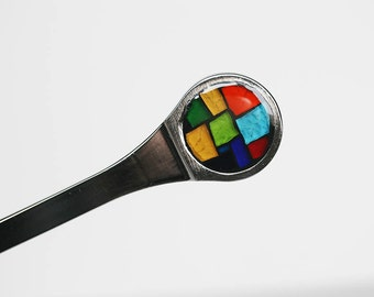 Mosaic Colorblock Letter Opener Stained Glass
