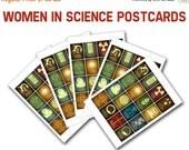 20% OFF Women In Science Postcards - 5 Blank Cards, Women In Stem, Scientists from History, Nerdy Stationary, Geek Pen Pal Franklin Lamarr G