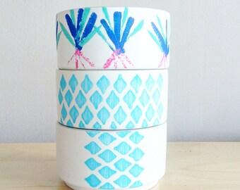 3 Succulent Planter SET~ Boho Decor~ Indoor Planters - Succulent Planter~ Succulent Pot~ Gift for Her~ Housewarming Gift~ Set of Planters