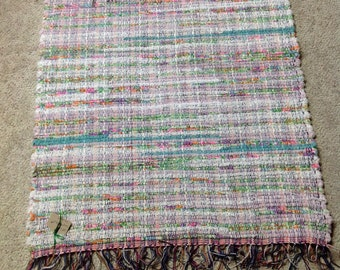 Rag Rug reuse terry cloth towels 28 inches long by 27 inches wide