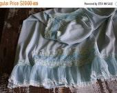 35% OFF CRAZY SALE- Vintage Blue Slip-Full Slip-Simple Elegance