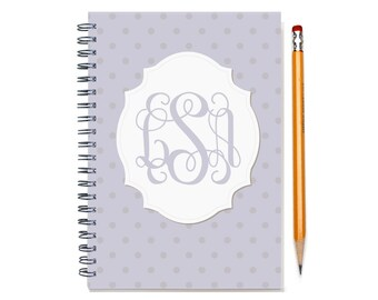 2017 2018 Monthly Planner  Book, Monogram Calendar, 12 or 24 Month Planner, Start Any Time, 2 Year Monthly Planner, 2017, SKU: pn dot m