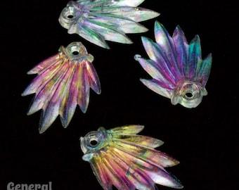 25mm Crystal AB Lucite Deco Fan (10 Pcs) #4441