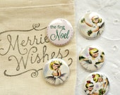 The First Noel Christmas Flair/Button Set