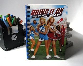 Bring It On - Movie - DVD Cover - Notebook - Sketchbook - Handmade - Reuse - Upcycled