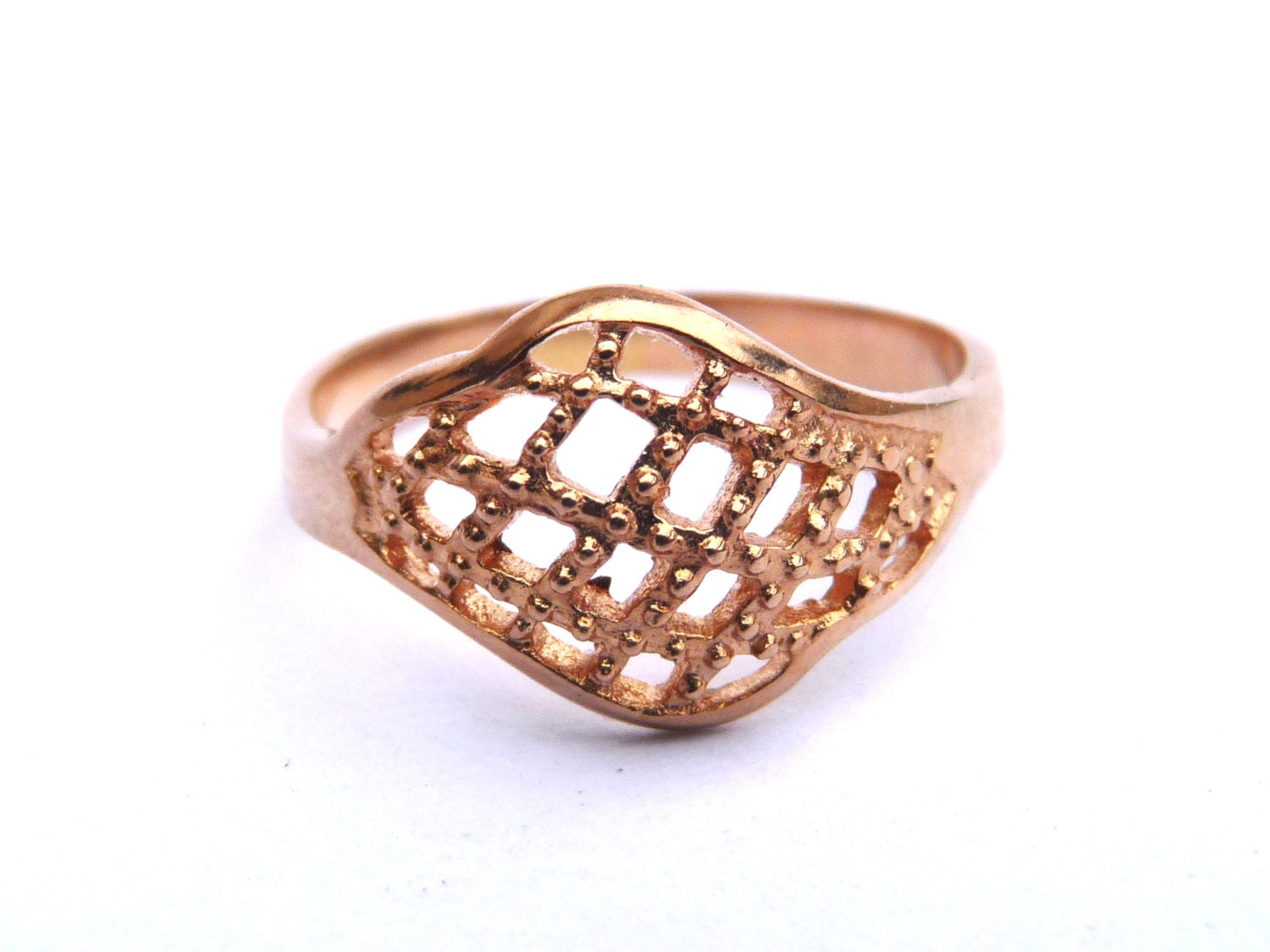 vintage 14k gold ring filigree deco engagement ring