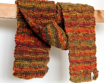 Scarf Hand Knit 100% Merino Wool