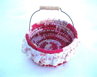 CURTSY  textile art BASKET tote Bucket