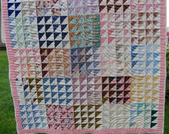 Antique Quilt Hand Sewn and Pieced