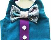 Easter dog vest: Easter egg design. Pink and Purple dog dress for spring dog clothes yorkie shihtzu chihuahua