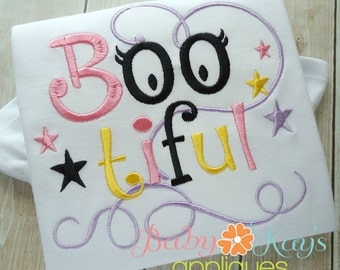 Boo-tiful Embroidery File 4x4, 5x7, 6x10, 8x8