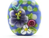 Made to order Margo lampwork beads flower