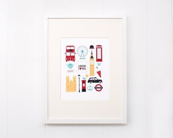 8x10 I Love London Print