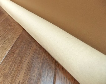 Custom length canvas door draft stopper, sturdy draft snake, draught excluder
