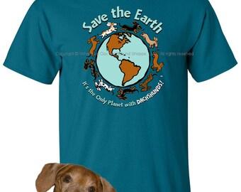 Planet Dachshund Unisex Men's T-Shirt