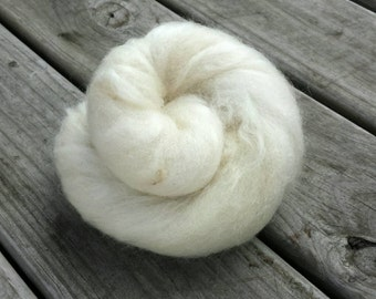NEW Ghost Batt - Undyed Natural Fibers Carded and Blended into a Spinning Batt - Spin and Dye Yourself or Spin and Enjoy! GB1