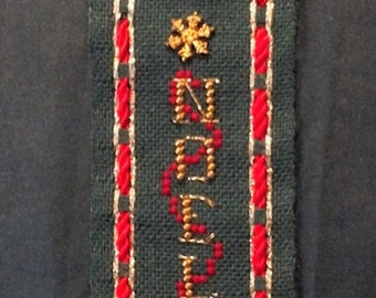 Mill Hill Finished Christmas Cross Stitch - NOEL ornament - All profits go to charity