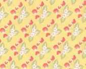 "33"" piece/remnant - Strawberry Fields Revisited - Strawberry Jam in Butter: sku 20264-15 cotton quilting fabric by Fig Tree for Moda"