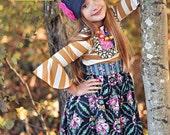 ON SALE Size 18m & 4 Girls Fall Dress Girls Autumn Dress Girls Party Dress Girls Holiday Dress