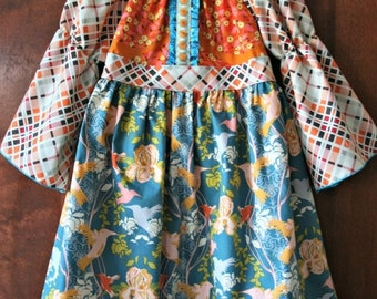 SALE STORE CLOSING Girls Spring Dress Girls Spring Peasant Dress Girls Winter Dress Ready to Ship Dress