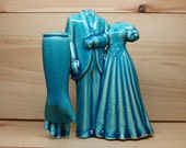 Blue Ceramic Collage Wedding Couple and Arm