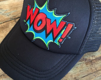 YOUTH or TODDLER Boys WOW Trucker Hat Baseball Cap Snap Back