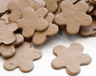 350 Latte Brown Five Petal Biodegradable Plantable Confetti