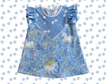 Unicorn print baby toddler child dress Supayana