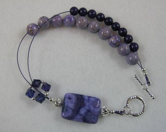 Positively Purple Abacus Row Counting Bracelet - Item No. 823