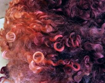 Cotswold Wool Locks - Hand Dyed Wool - Spinning Fiber - Felting Fiber - Olde World Map