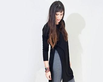 Tunic • Women's Side Slit Top • Open Side • Long Sleeve Shirts • Bohemian Minimalist Boho • Loft 415 Clothing (No. 309)