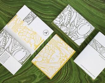 Harvest - eight letterpress note cards