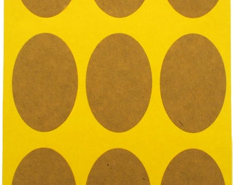 SALE - 450 pieces - Kraft Custom Printable Sticker - Oval Label - Blank