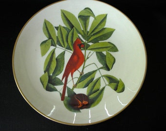 "Vintage Round Gorham Commemorative Place ""The Cardinal"" Mark Catesby Artist"