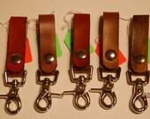 Key ring.Key keeper.snap clip.key hook.belt loop.keys.leather.