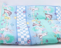 Adorable Vintage Fabric But New Hand-Made Baby Blanket Baby Loony Tunes Loony Toons ~ The Pink Room ~