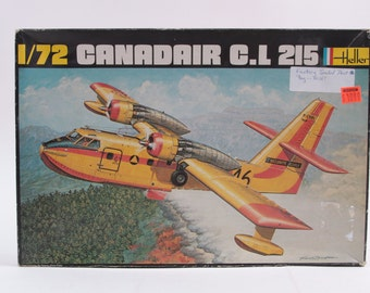 1/72 Canadair C.L 215 Heller Plane Model Vintage 1970s ~ The Pink Room ~ 160909