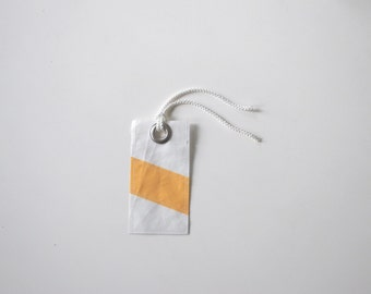 Recycled Sail Luggage Tag - Yellow Stripe
