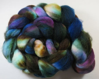 Hand Dyed Superwash BFL Blueface Leicester Combed Top, Spinning Fiber, Roving -- Tropical Lagoon (115 grams or 4.0 Ounces)