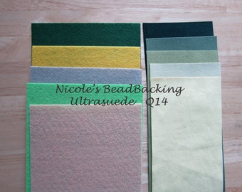 Ultrasuede and Nicole's BeadBacking Bead and Craft Foundation Q14