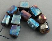 Five Pairs Raku Beads