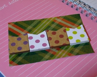 Handmade Planner Paper Page Flags - Dots Dots And More Dots!