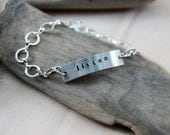 custom pewter bracelet