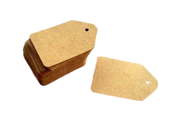 gift tags, kraft, 500 product tags, favor tags, kraft tags, earring cards