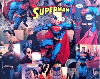 Superman Decoupage Comic Canvas