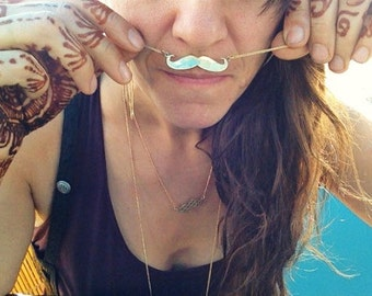 Life is Better with a Moustache Necklace