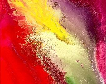 Il Cavallo 8x10 original abstract spray paint painting