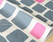 Japanese Fabric Tiles - grey, pink - 50cm