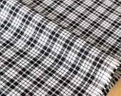 Japanese Fabric - yarn dyed gingham check - black - 50cm