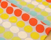 Japanese Fabric - big dots canvas - C - fat quarter